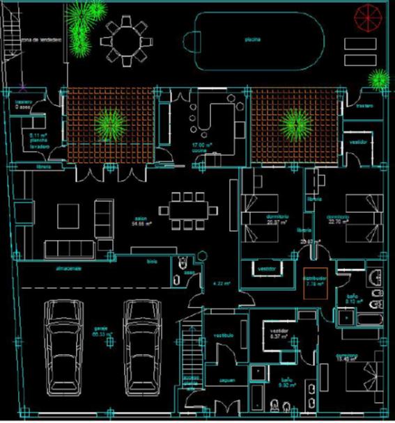 Diseño distribución vivienda
